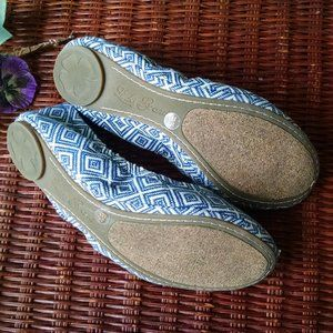 Lucky Brand Shoes - Lucky Brand Fabric Navy & White  Ballet Flats  9